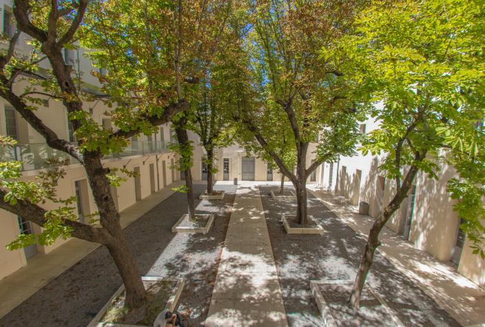 Cour du site Saint-Charles